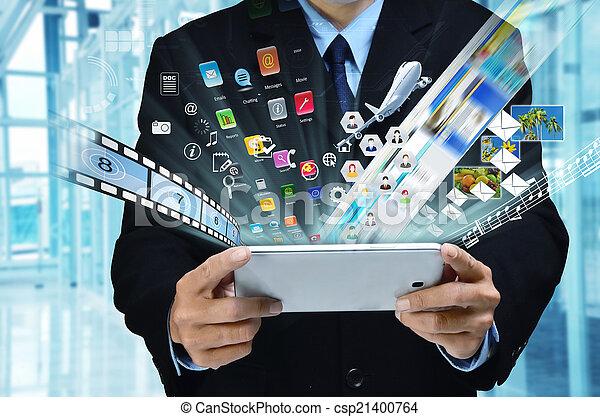 serie, affari, internet - csp21400764
