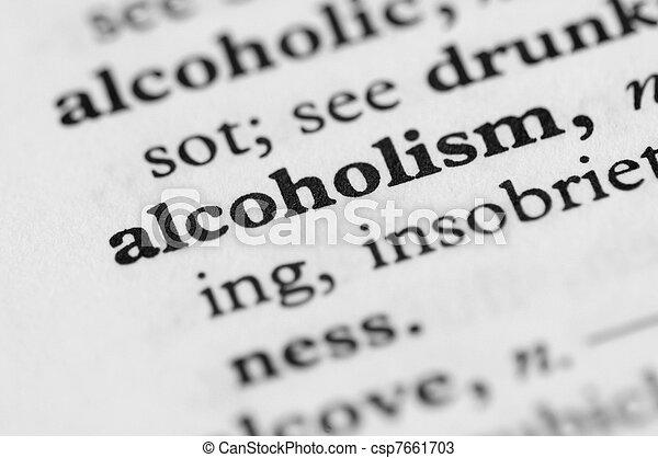 serie, -, alcolismo, dizionario - csp7661703