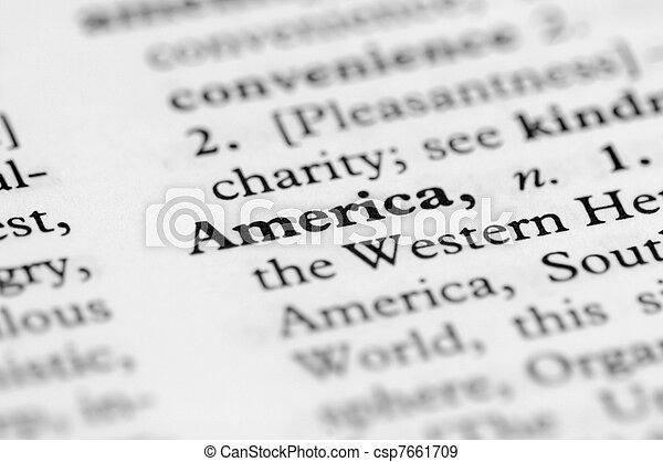 serie, america, -, dizionario - csp7661709