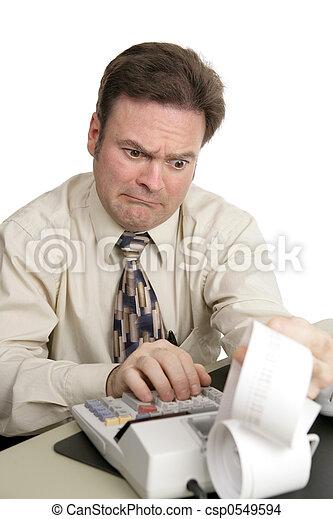 serie, contabilità, cattivo, -, notizie - csp0549594