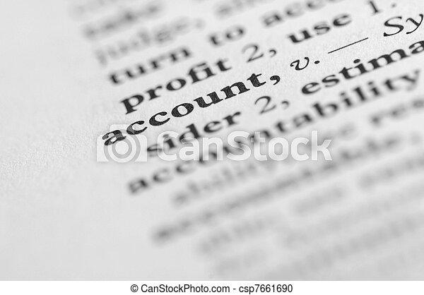 serie, conto, -, dizionario - csp7661690