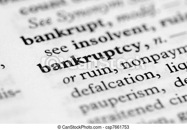 Serie de diccionario: bancarrota - csp7661753