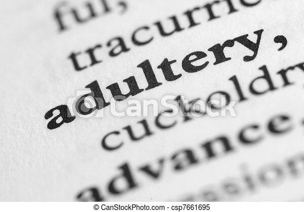 serie, -, dizionario, adulterio - csp7661695