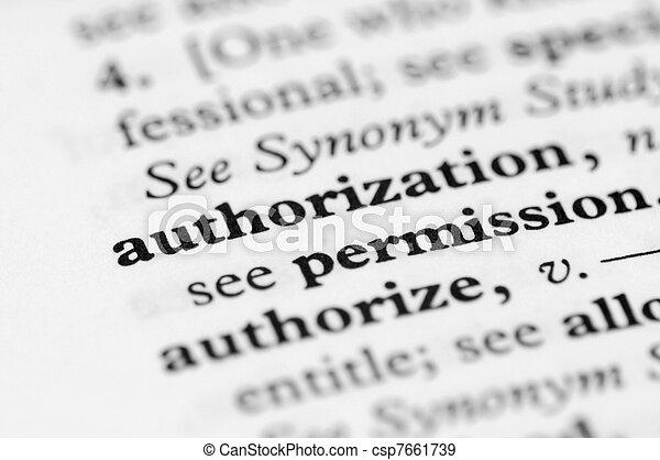 serie, -, dizionario, autorizzazione - csp7661739