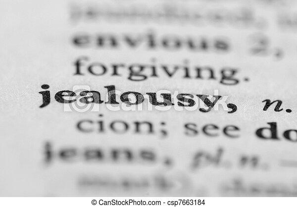 serie, -, dizionario, gelosia - csp7663184