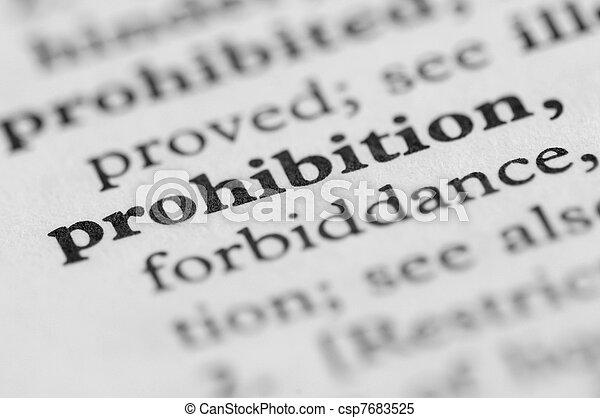 serie, -, dizionario, proibizione - csp7683525