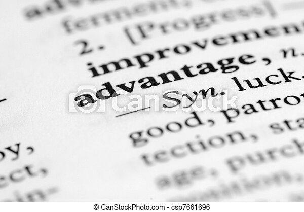 serie, -, dizionario, vantaggio - csp7661696