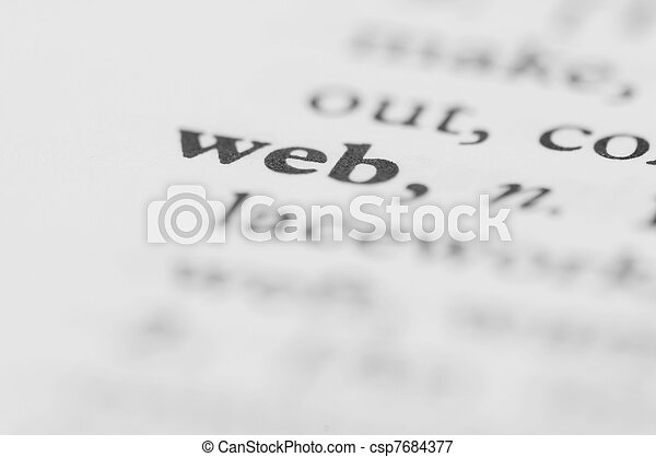 serie, -, dizionario, web - csp7684377