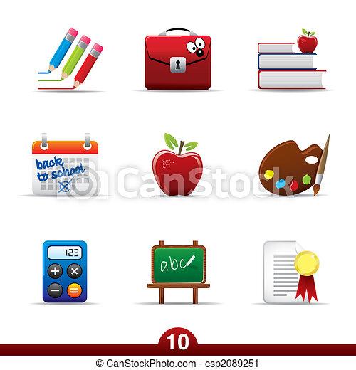 serie, educazione, -, icona - csp2089251