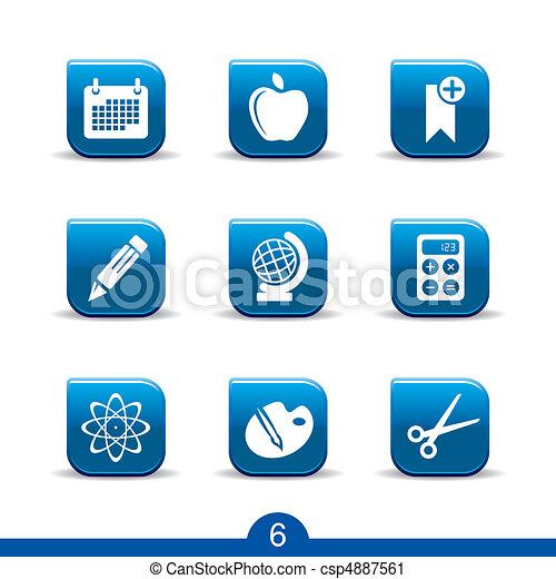 serie, educazione, no.6..smooth, icone - csp4887561