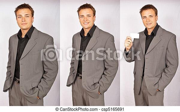 serie, foto, uomo affari - csp5165691