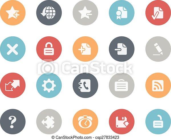 serie, iconos, clásico, tela - csp27833423