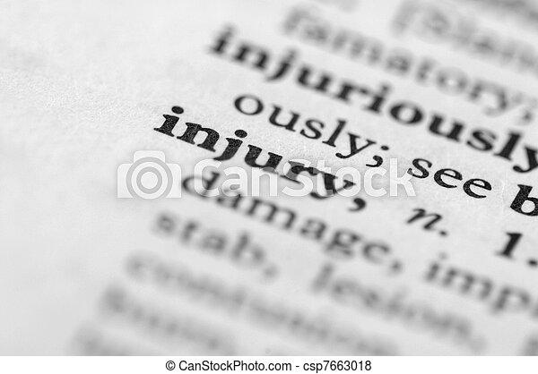 serie, lesione, -, dizionario - csp7663018