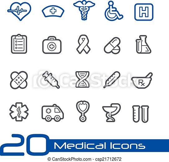 iconos médicos / serie de línea - csp21712672