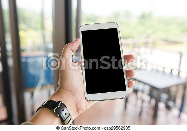 serie, mano, vecchio, smartphone, ho - csp29562905
