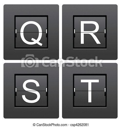 Cartas de serie Q a T del marcador mecánico - csp4262081