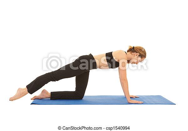 serie, pilates, esercizio - csp1540994