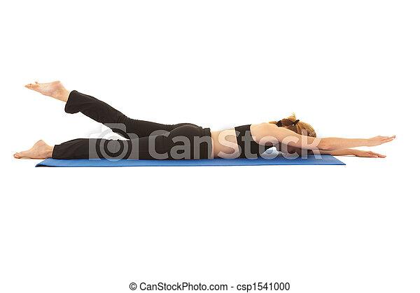 serie, pilates, esercizio - csp1541000