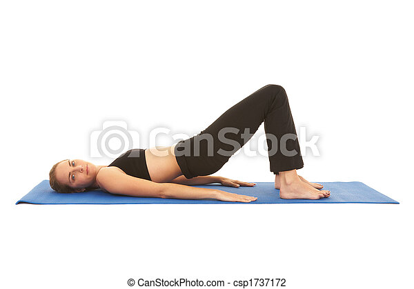 serie, pilates, esercizio - csp1737172