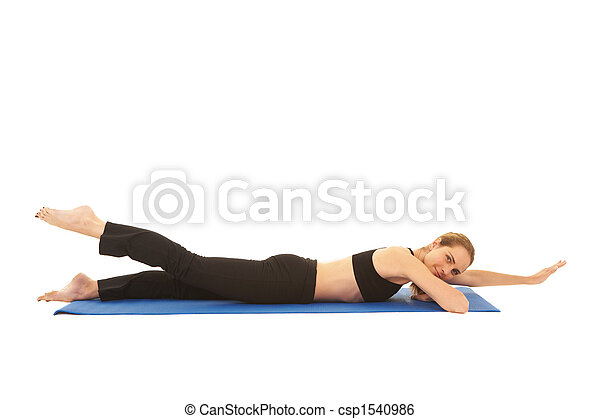 serie, pilates, esercizio - csp1540986