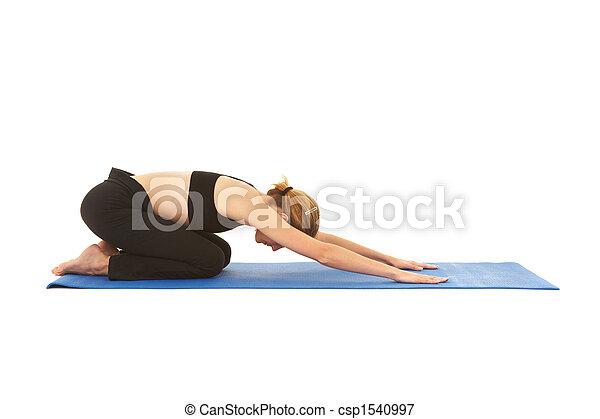 serie, pilates, esercizio - csp1540997