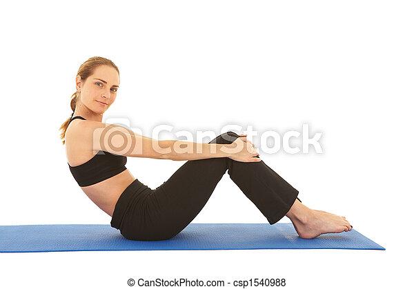 serie, pilates, esercizio - csp1540988