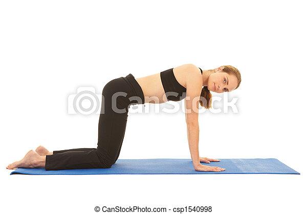 serie, pilates, esercizio - csp1540998