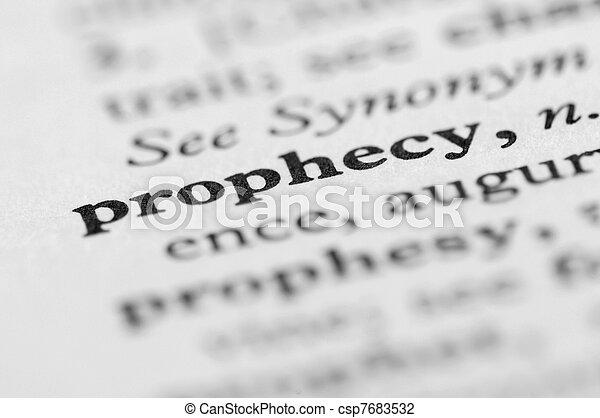 serie, profezia, -, dizionario - csp7683532