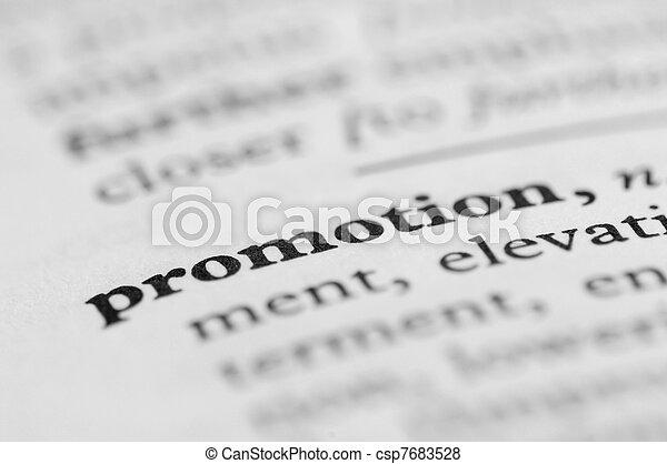 serie, promozione, -, dizionario - csp7683528