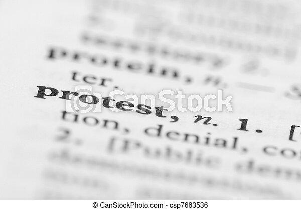 serie, protesta, -, dizionario - csp7683536