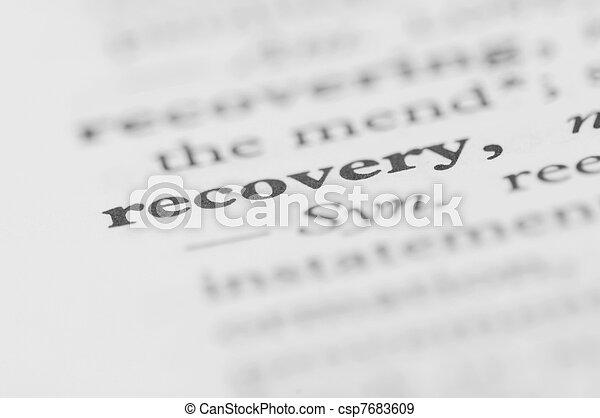 serie, -, recupero, dizionario - csp7683609