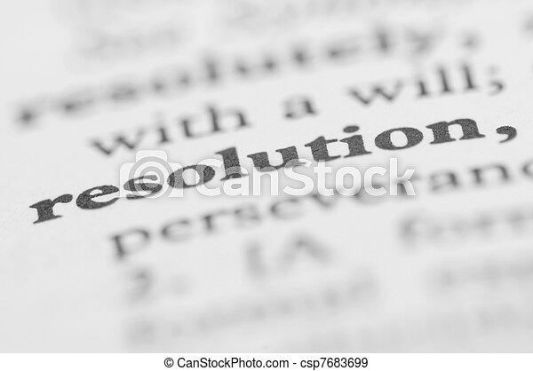 serie, -, risoluzione, dizionario - csp7683699