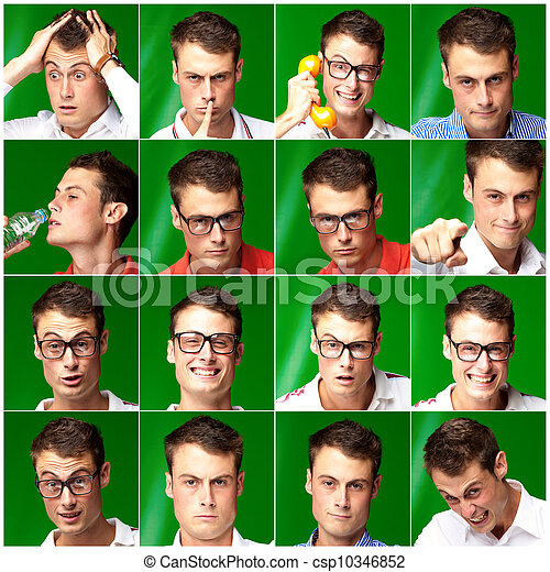 Series Of Expressive Man - csp10346852