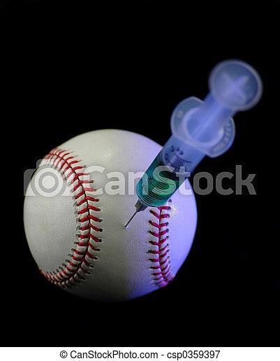 seringue, base-ball - csp0359397