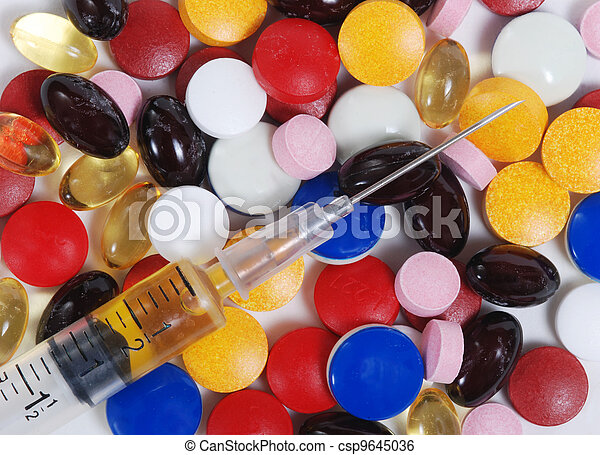 seringue, médicament - csp9645036