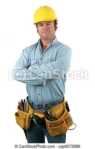 serio, herramienta, -, hombre - csp0072686