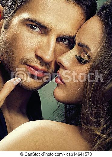 serio, mujer, fabuloso, ella, hombre - csp14641570