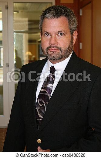 Serious Business Man - csp0486320
