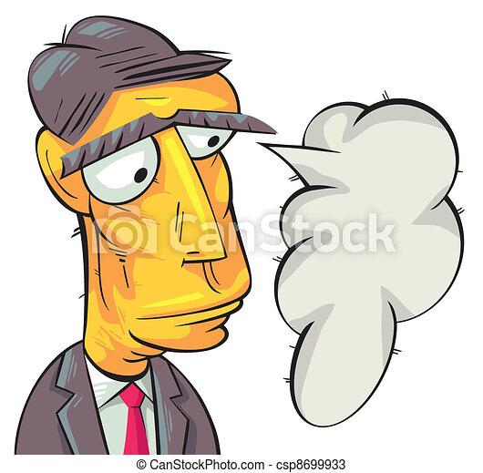 Serious businessman thinking - csp8699933