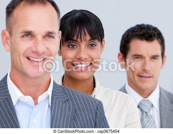 Serious senior businessman  - csp3675454