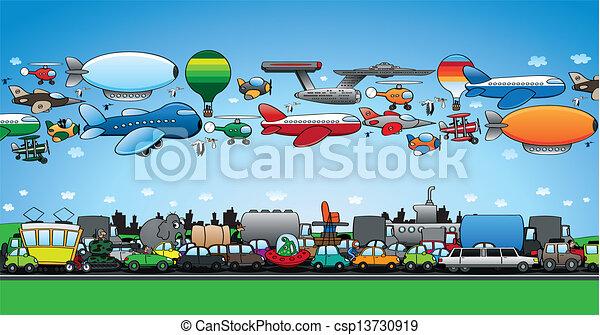 Serious traffic jam - csp13730919