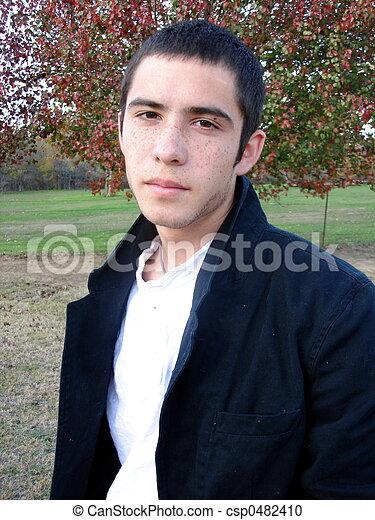 Serious Young Man - csp0482410