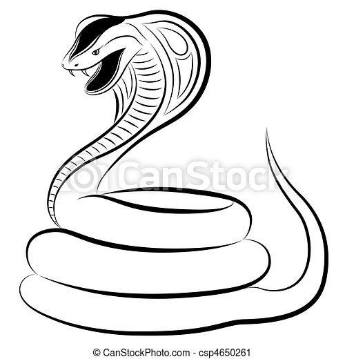 Dessin Cobra serpent, cobra. tatouage, cobra, formulaire.