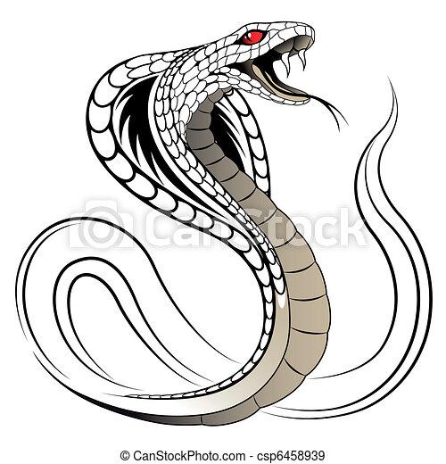 Serpiente vector, cobra - csp6458939