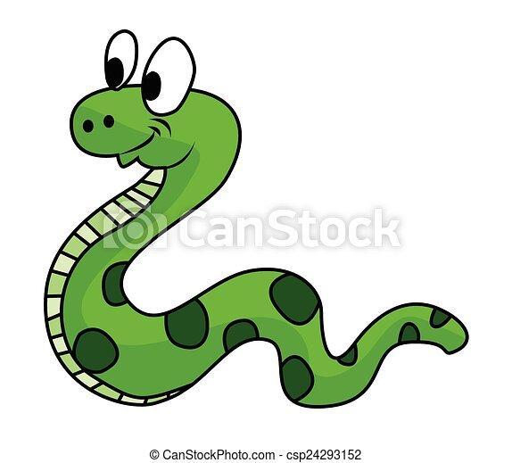 Serpiente verde - csp24293152