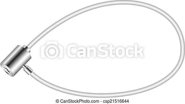 serrure, blanc, vélo - csp21516644