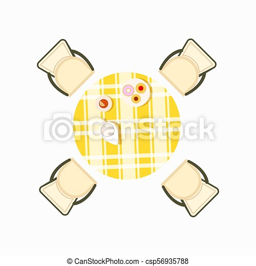 Served Dining Table Icon Vector Illustration - csp56935788
