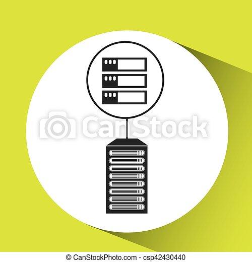 server data center connection graphic - csp42430440