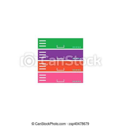 Server network Icon Vector - csp40478679
