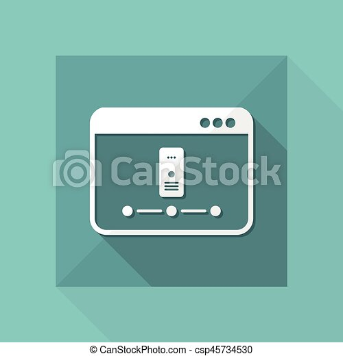 Server network - Vector flat minimal icon - csp45734530